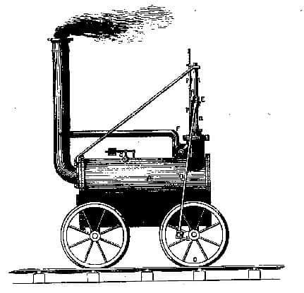 boceto de las primeras maquinas de vapor