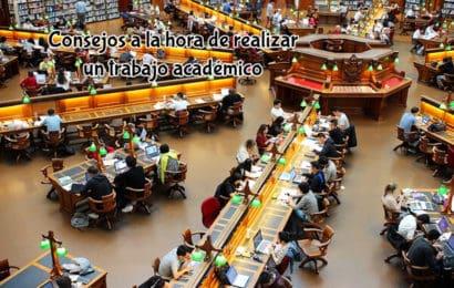 Consejos a la hora de realizar un trabajo académico